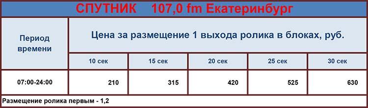 Реклама на радио Спутник